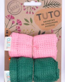 TUTO ekosáčky 2ks - ružová a zelená image