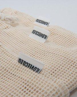 Sieťové bavlnené vrecko - M image